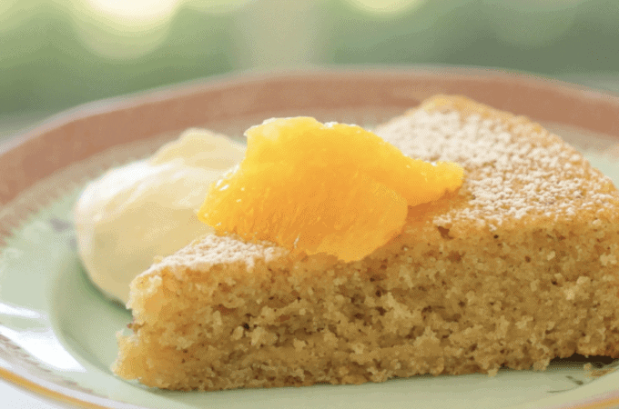 Orange Almond Cake Recipe (Sponsored by P.A.N)