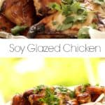 Collage of Soy Glazed Chicken