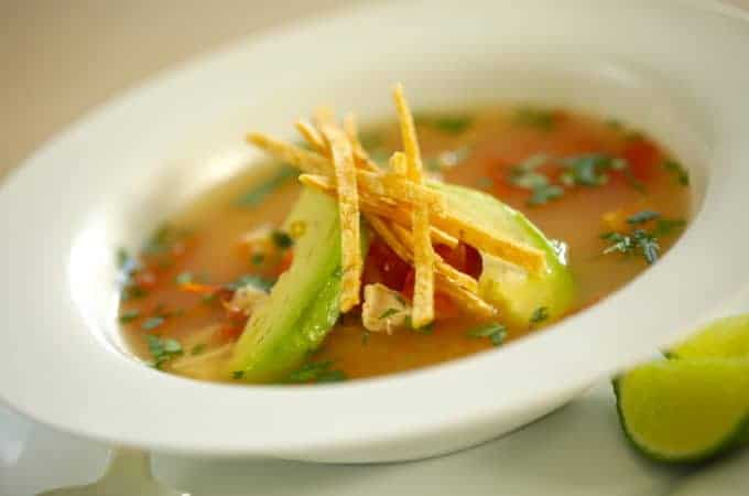 Easy Tortilla Chicken Soup Recipe