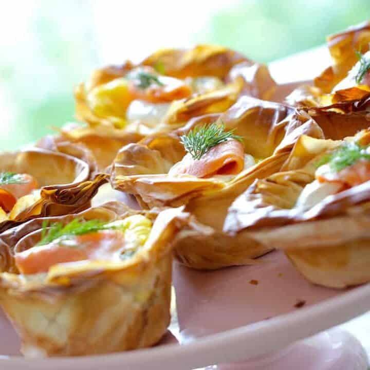 Smoked Salmon Quiche Cup