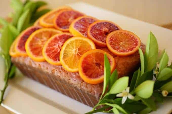 Blood Orange Pound Cake