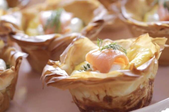 Smoked Salmon Quiche Cups