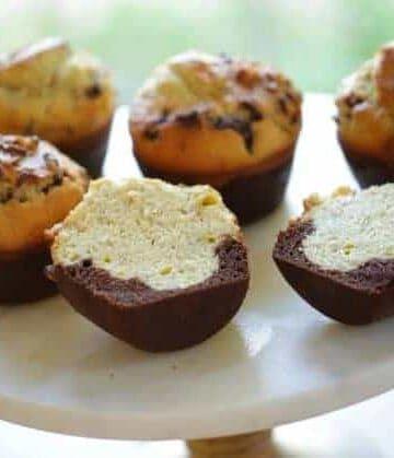 Black Bottom Banana Nut Muffins