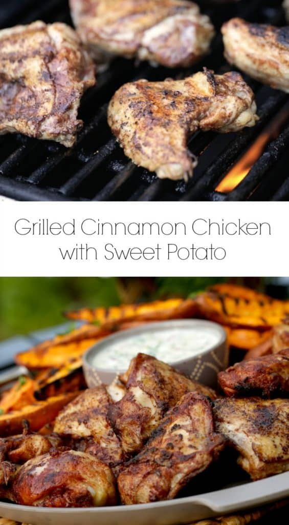 Grilled Cinnamon Chicken with Sweet Potato Wedges