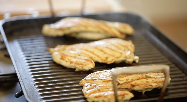 Grilled chicken for fajitas