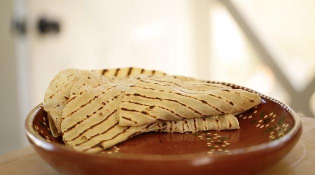 Tortillas on platter
