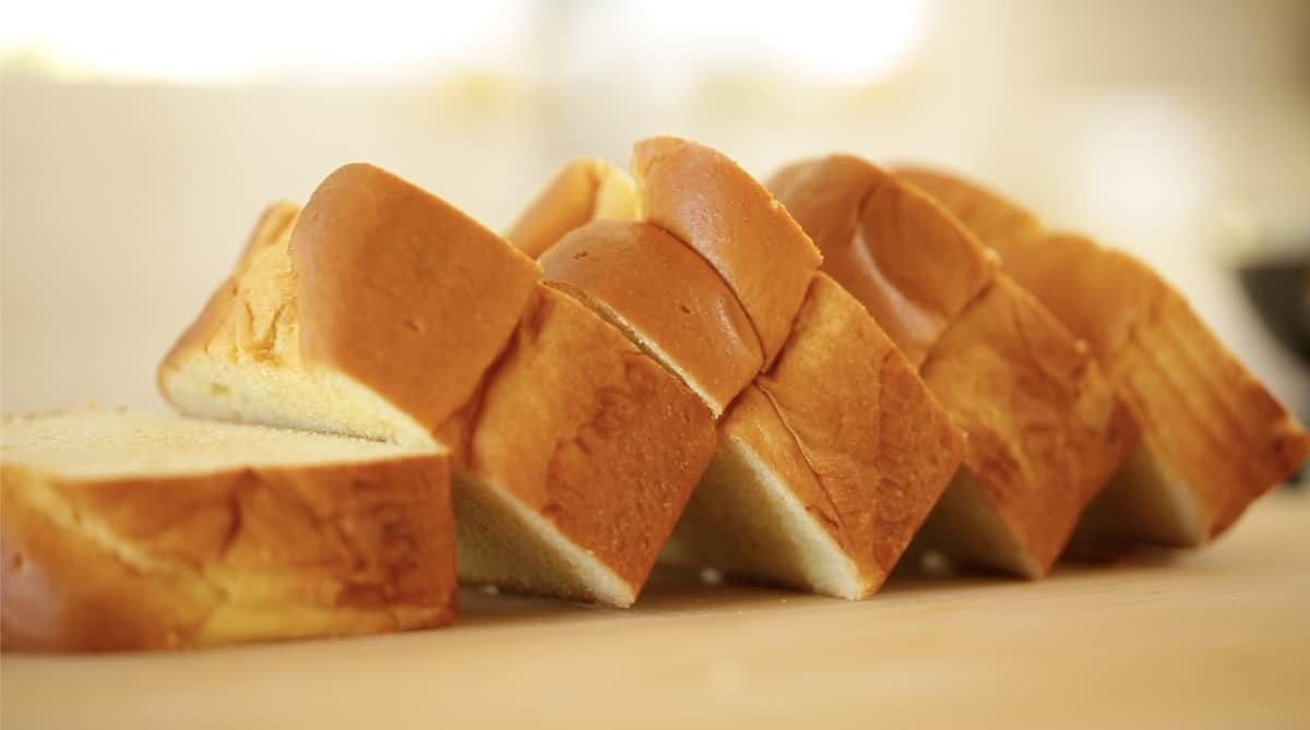 Thick slices of Brioche Bread