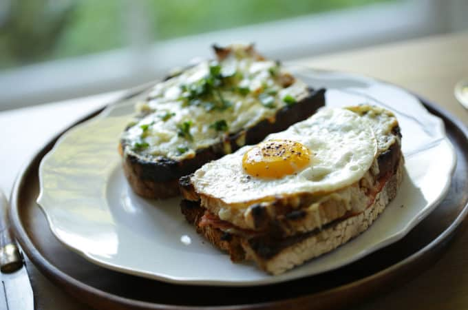 Croque Monsiuer and Croque Madame Sandwiches