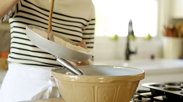 Mixing Cappuccino Muffins recipe