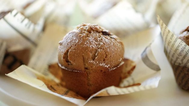 Cappuccino Muffin Recipe unwrapped from Muffin Paper