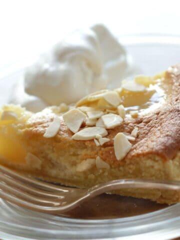 Pear Almond Tart on a plate