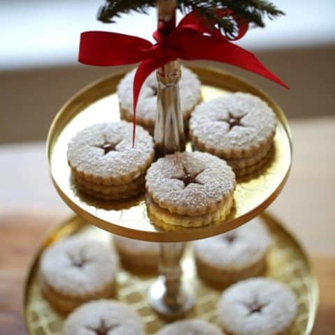 Chocolate Hazelnut Linzer Cookies