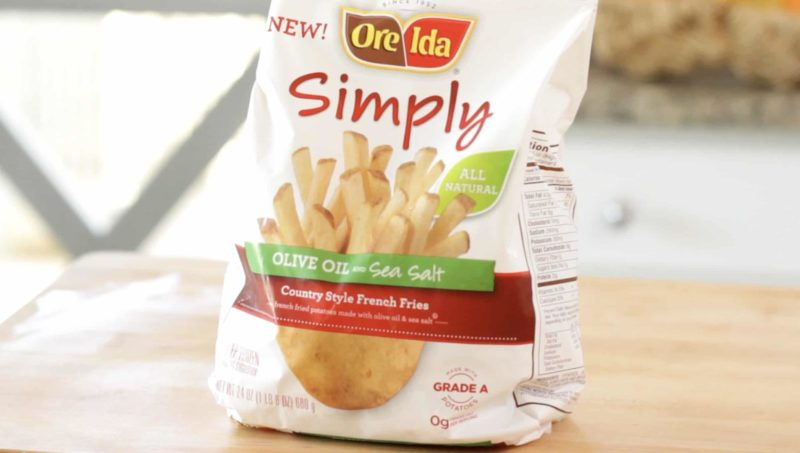 a bag of Ore Ida Simply Frozen French Fries