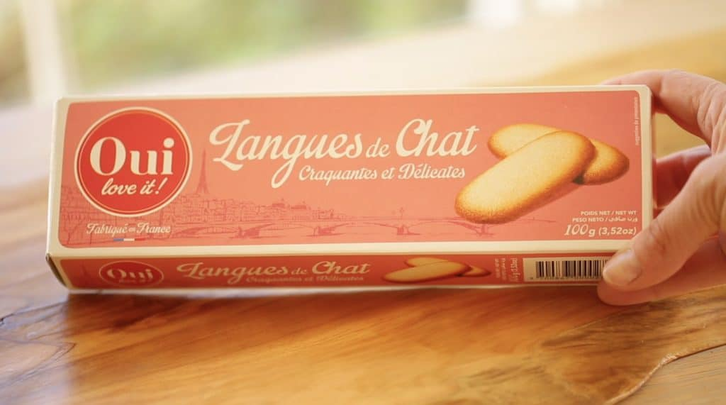 Box of Langue de Chat cookies from Oui Love It!