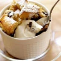 Banana Bread Pudding with Chocolate Chips