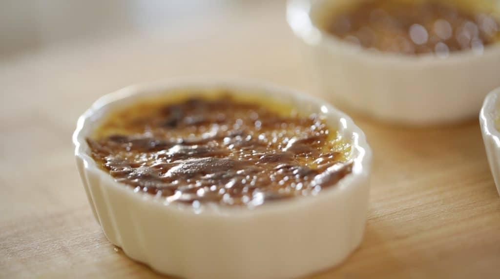 Caramelized Lavender creme brulees