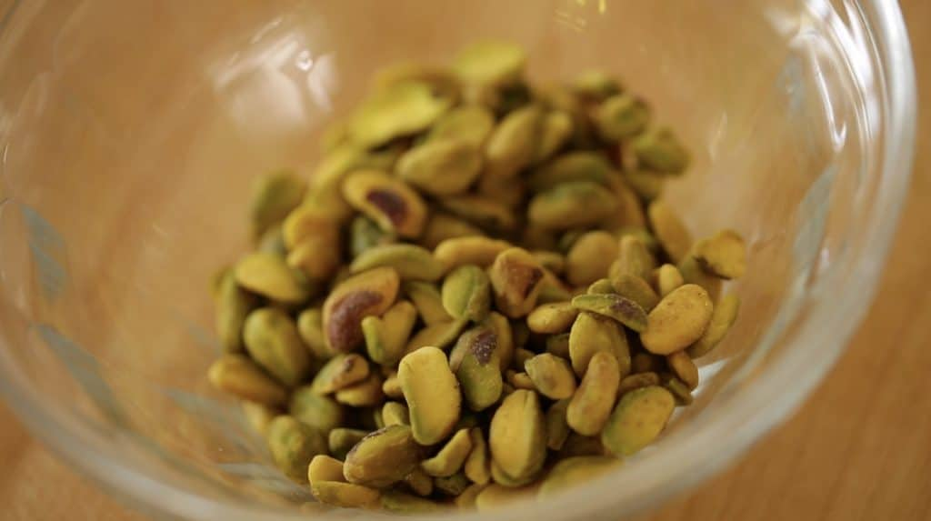 Raw, unsalted Pistachios for Pistachio Olive Oil Cake eEcipe