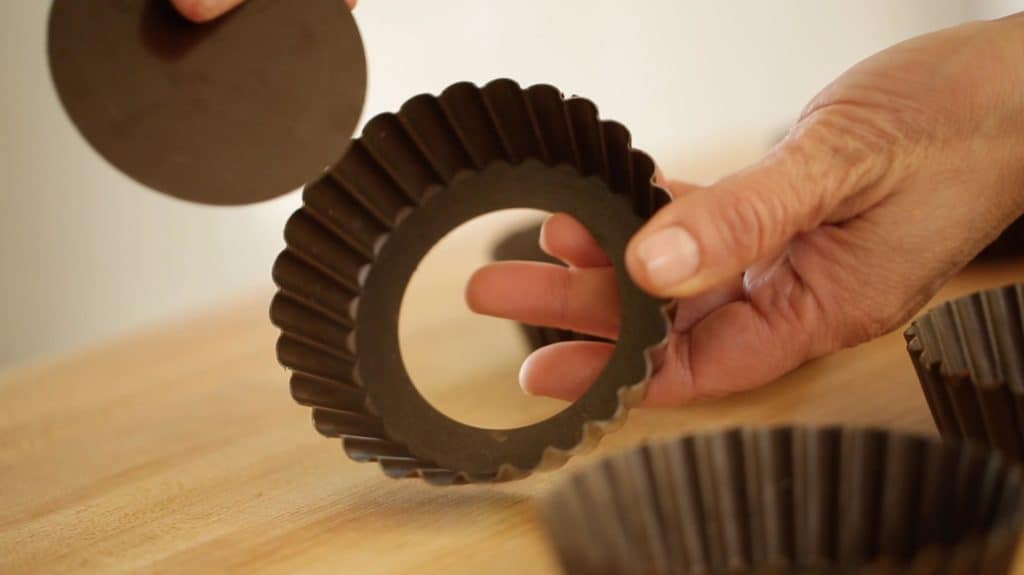 Removable Bottom, mini tart tins for Pistachio Olive Oil Cake Recipe