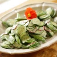 Creamy Cucumber Dill Salad Recipe