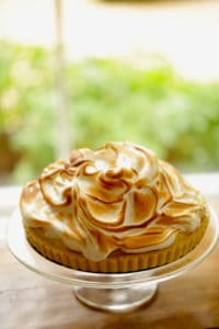 Vertical Image of a Lemon Meringue Tart Recipe by Entertaining with Beth