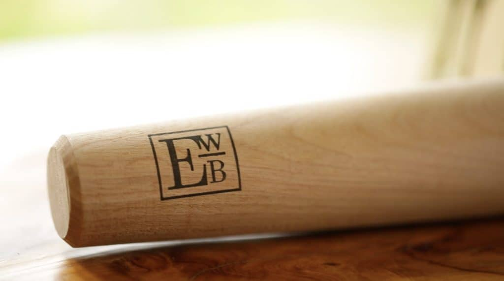 Close up of EWB Logo on French Style Rolling Pin