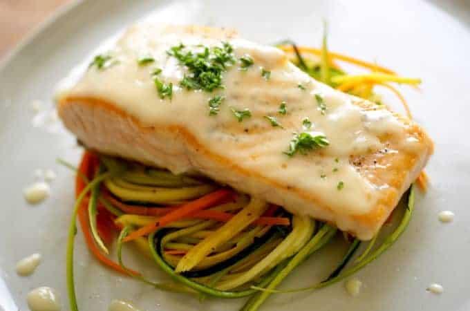 Pan Seared Salmon with Beurre Blanc
