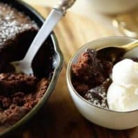 Warm Chocolate Skillet Cake for 8