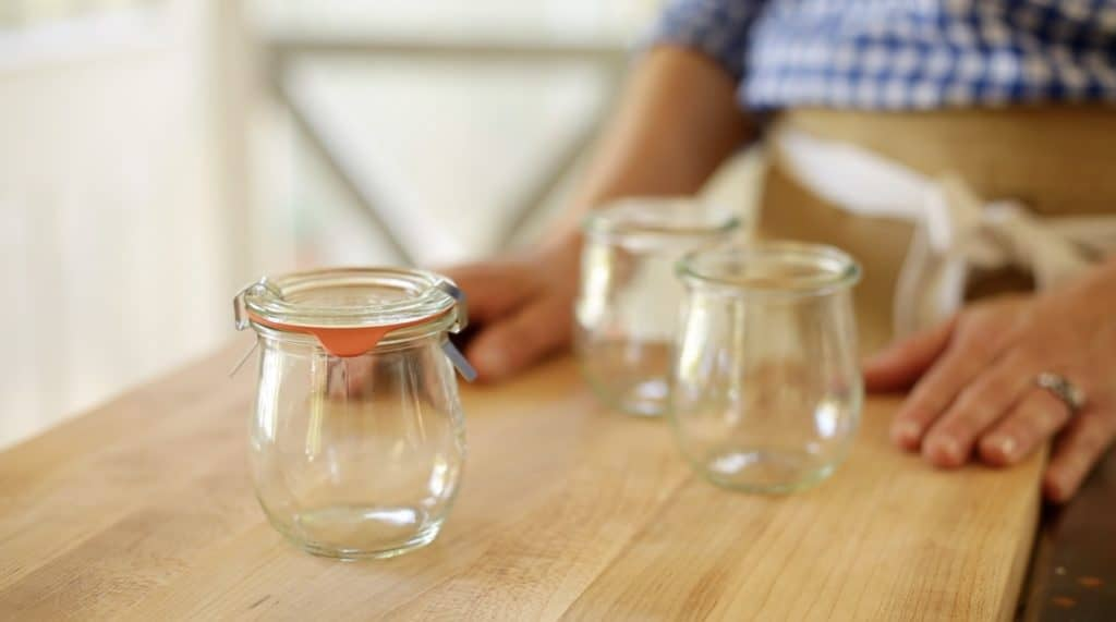 Weck Tulip Style Jam Jar used for S'More Pudding Pots