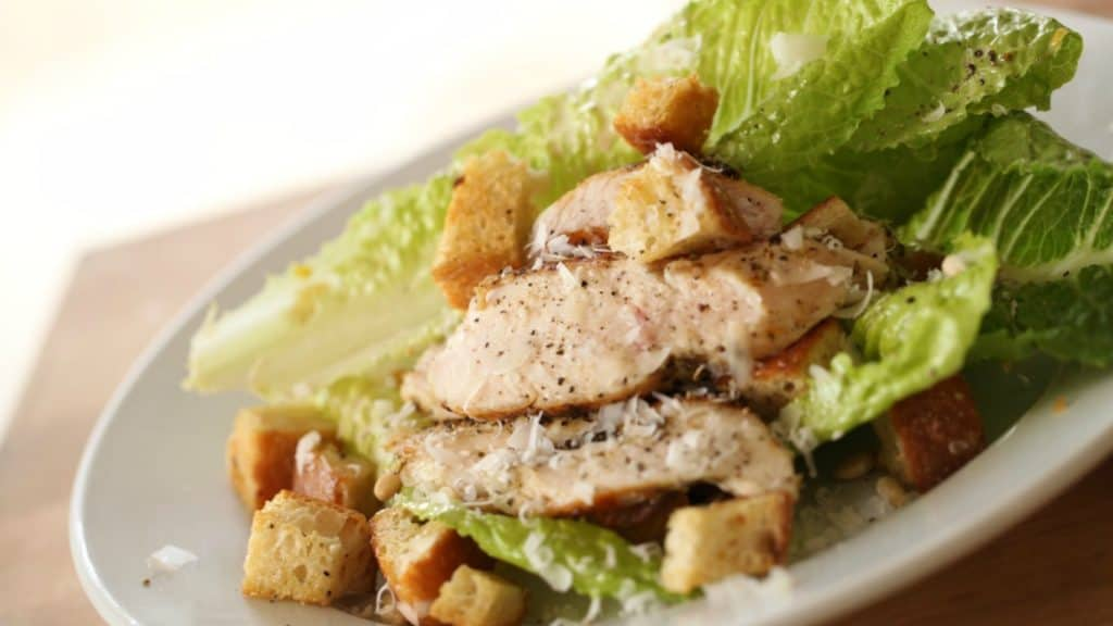 Grilled Chicken and Caesar Salad Recipe