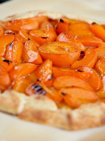 Apricot Galette on a Serving Board
