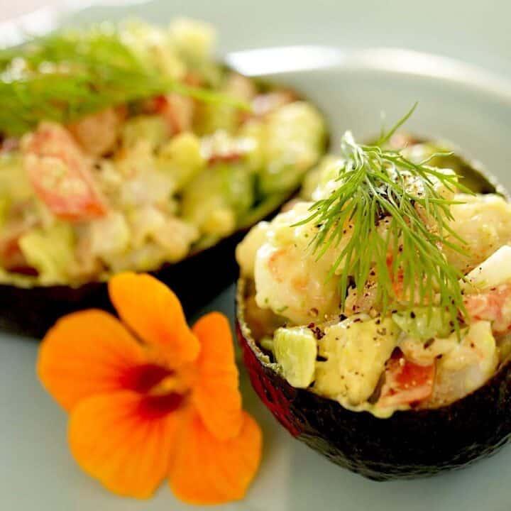 Avocado Shrimp Cup Salad