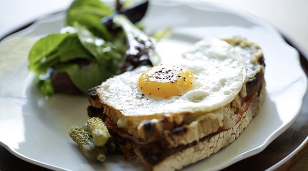 Croque Madame with egg on top