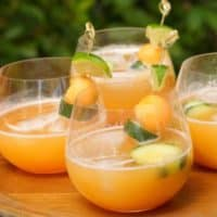 Cantaloupe and Cucumber Aqua Fresca
