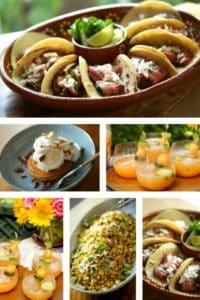 Collage of Mexican Street Food Party Recipes