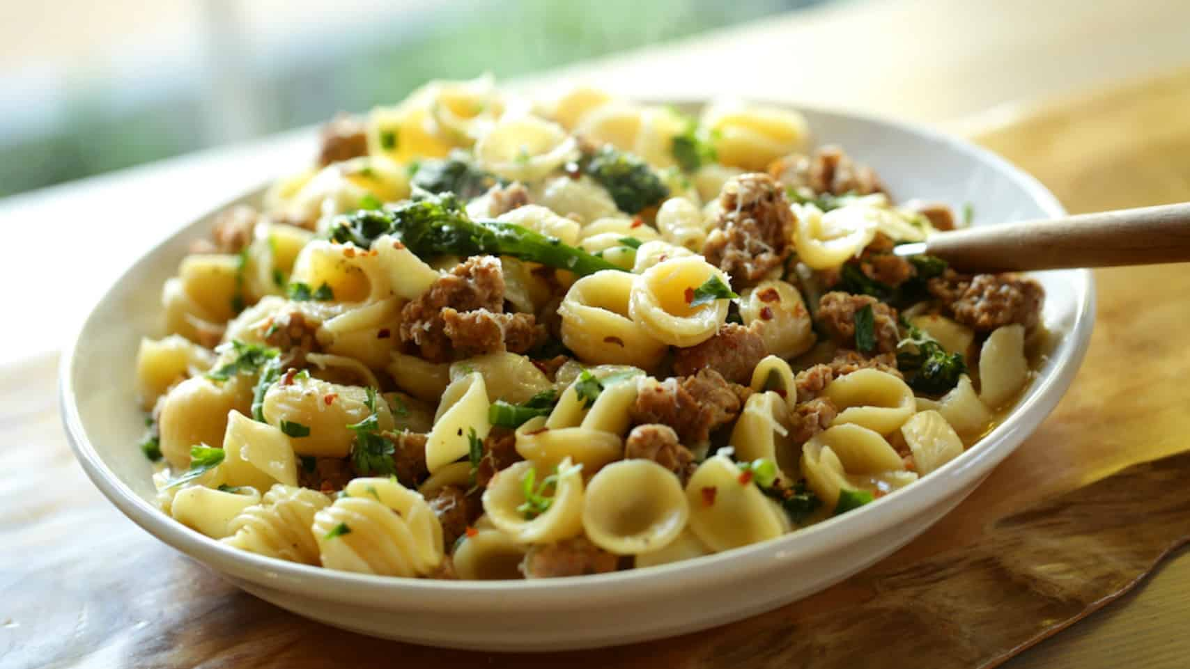 Orecchiette Pasta with Sausage and Broccoli