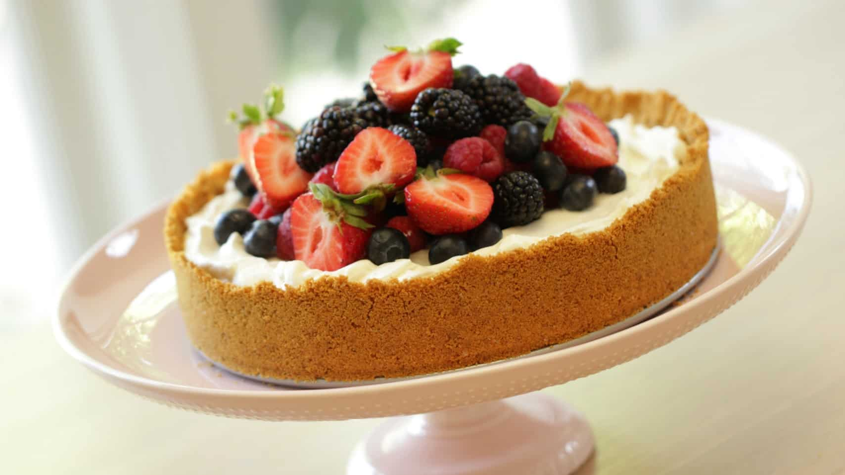 Triple Berry No-Bake Cheesecake Recipe