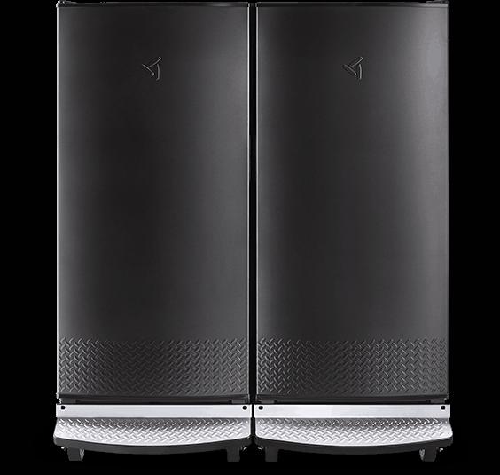 A photo of a Gladiator Upright Refrigerator and Freezer closed
