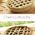 Cherry Pies on cutting board for a how to make a cherry pie recipe