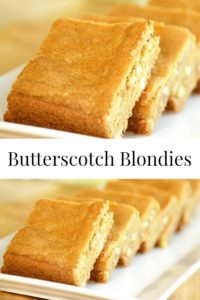 Chewy Butterscotch Blondies