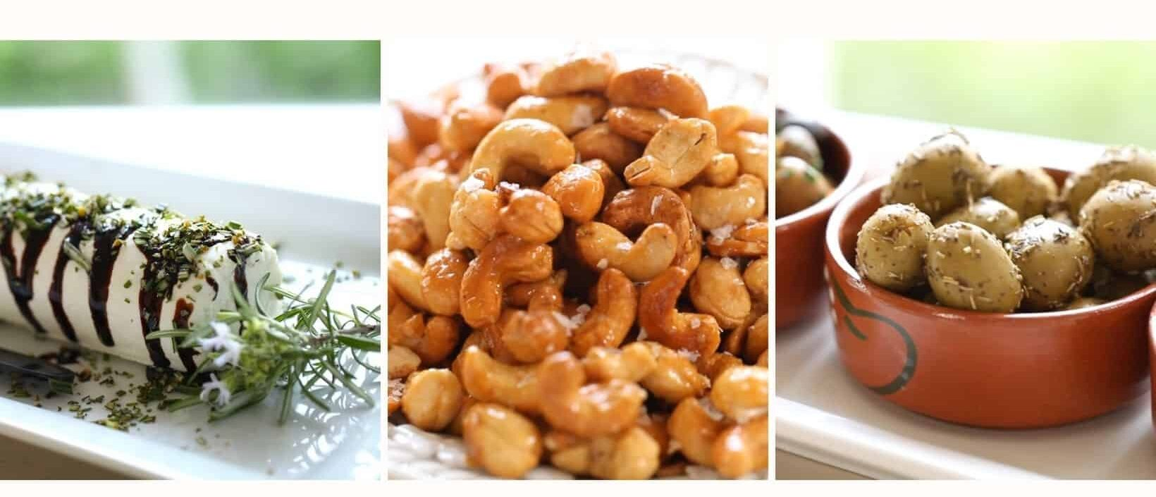 A collage of easy appetizer recipes
