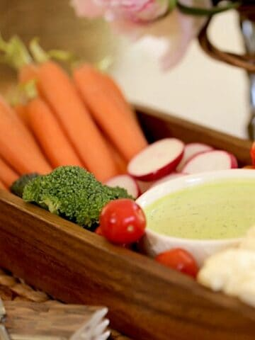 Green Goddess Dressing with Vegetables