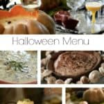 Collage of recipes from Halloween Menu Ideas for Adults