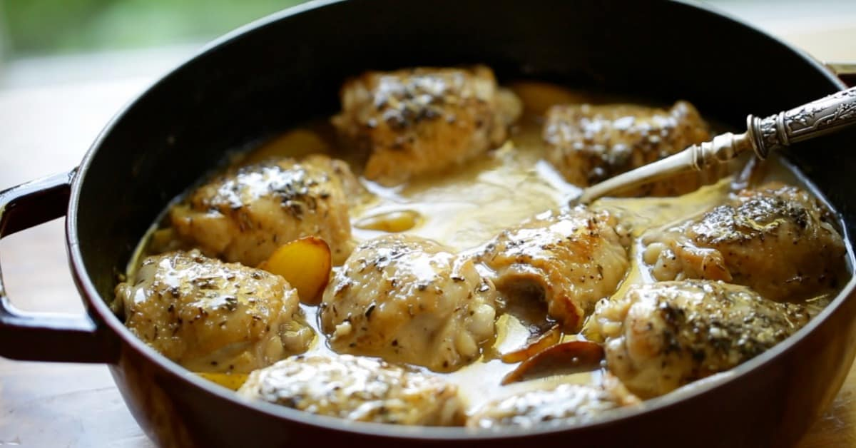 One Pot Chicken and Potatoes Recipe in Braiser