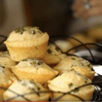 Cheesy Herbed Cornbread Muffins