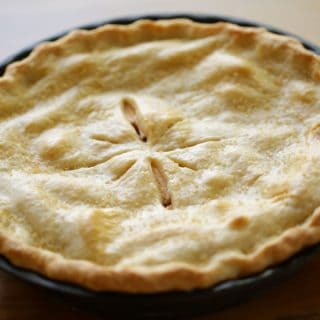 Overhead shot of the best apple pie recipe
