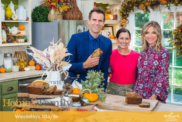 Beth Le Manach of Entertaining with Beth with hosts of Home and Family TB
