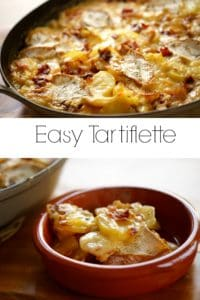 Various angles of an Easy Tartiflette Recipe