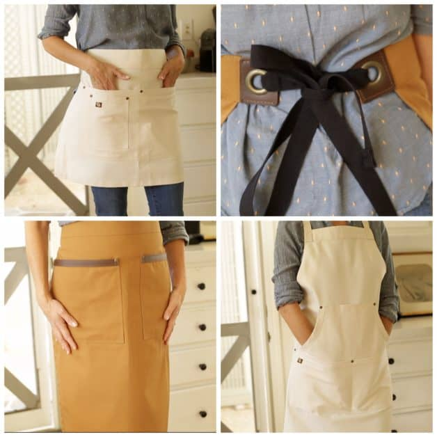 Collage of wonderful aprons from a list of 15 Gifts for Foodies
