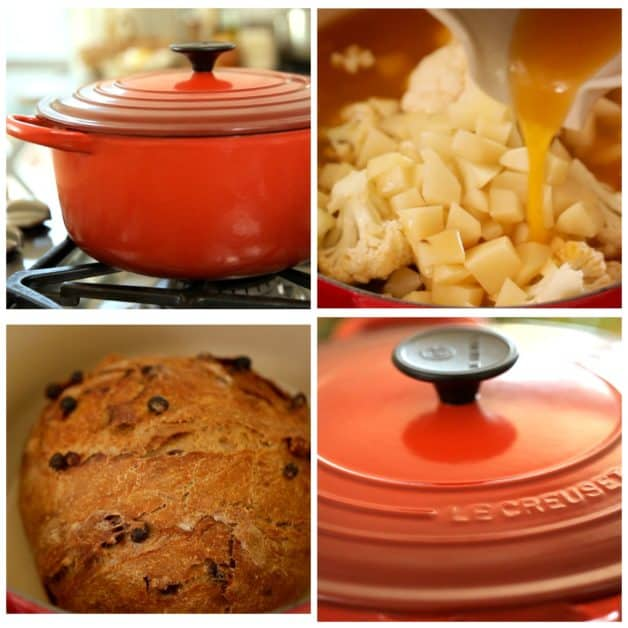 Red Le Creuset Dutch Oven Collage. One of 15 Gifts for Foodies