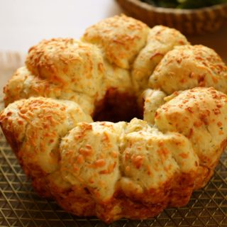 Savory Monkey Bread From Scratch cooling on a cooling rack